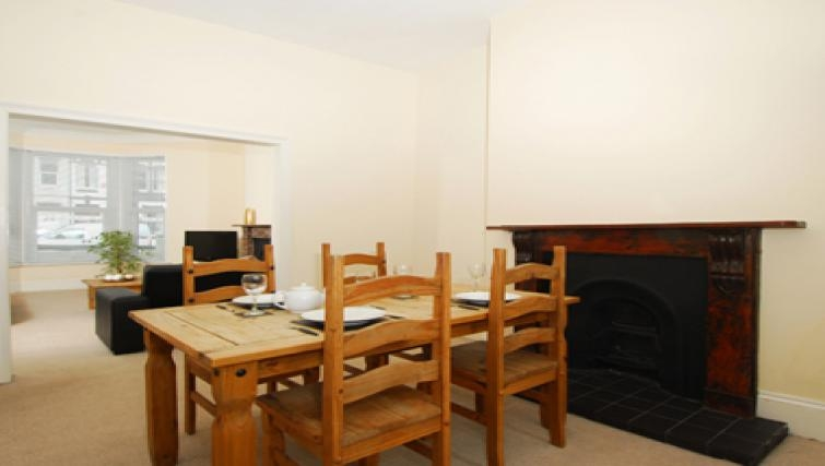 Stunning dining area in Belgrave Apartments