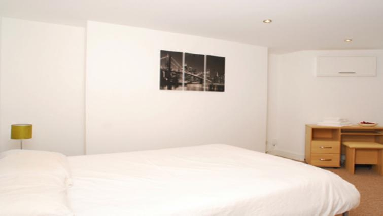 Peaceful bedroom in Belgrave Apartments