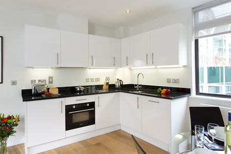 Kitchen facilities at SACO St Pauls - Red Lion Court