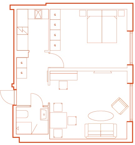 Floorplan1 at Stockholm Bromma Apartments