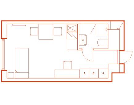 Floorplan 3 at Stockholm Bromma Apartments