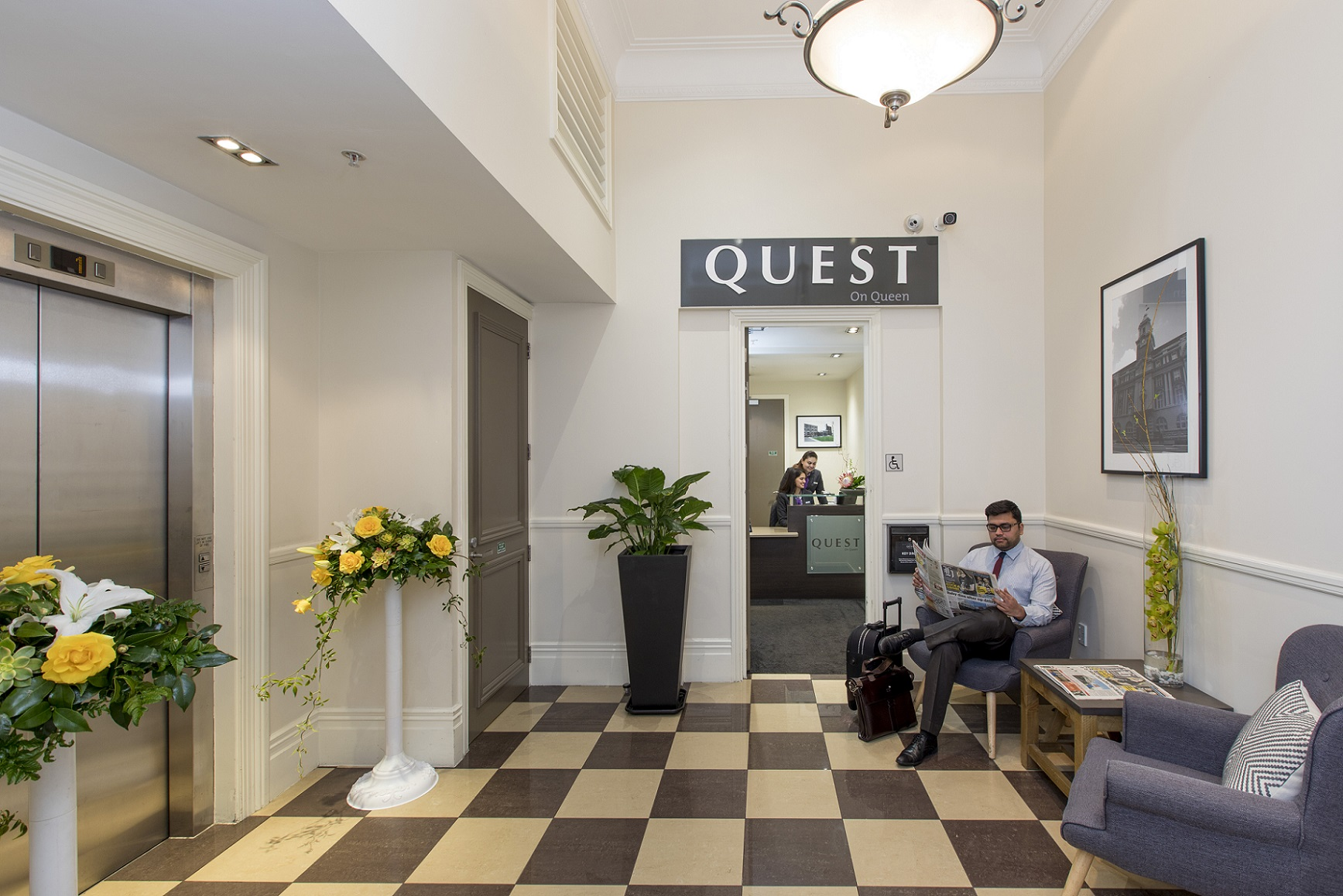 Lobby area at Quest on Queen