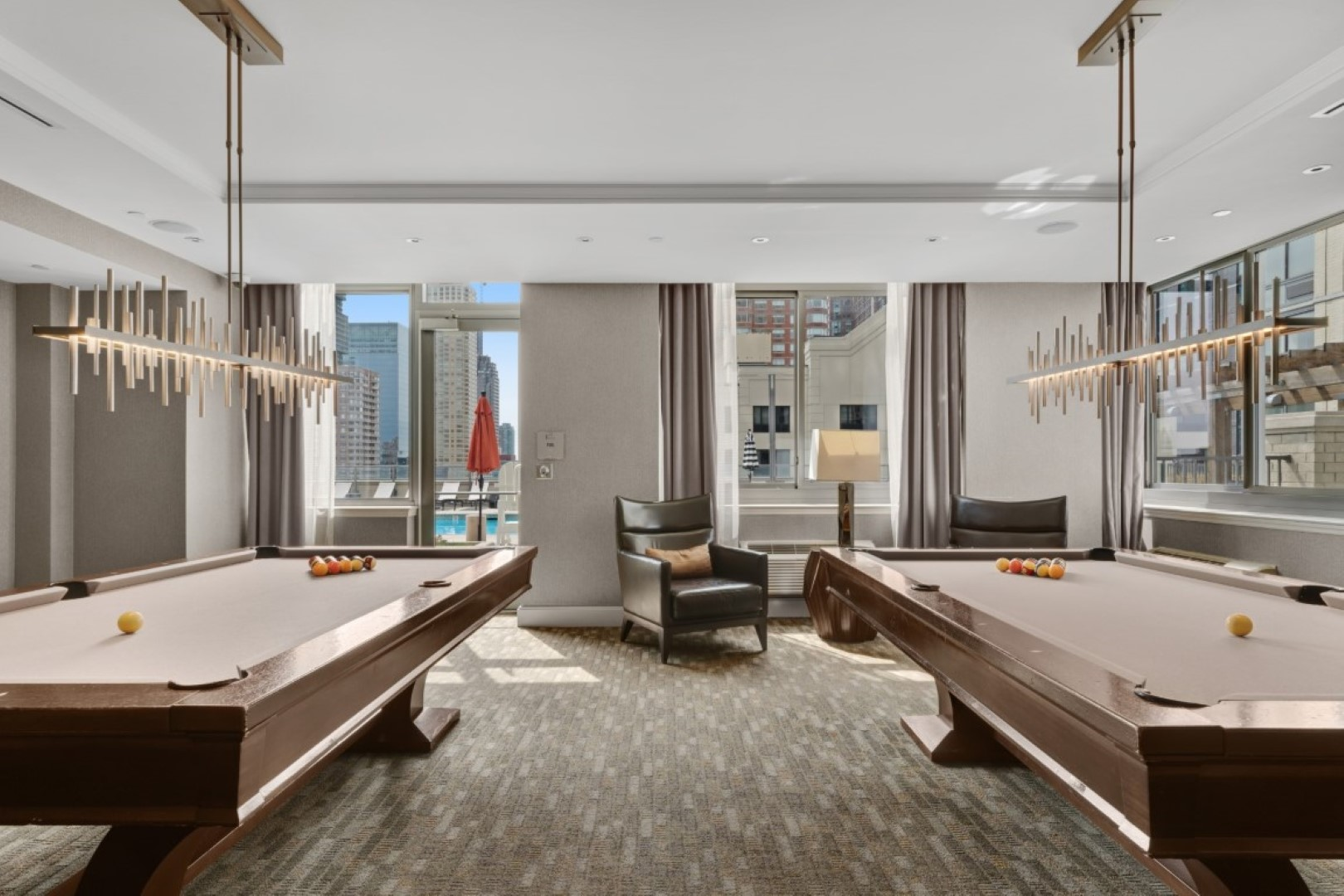 Games room at Monaco Apartments, Centre, Jersey City