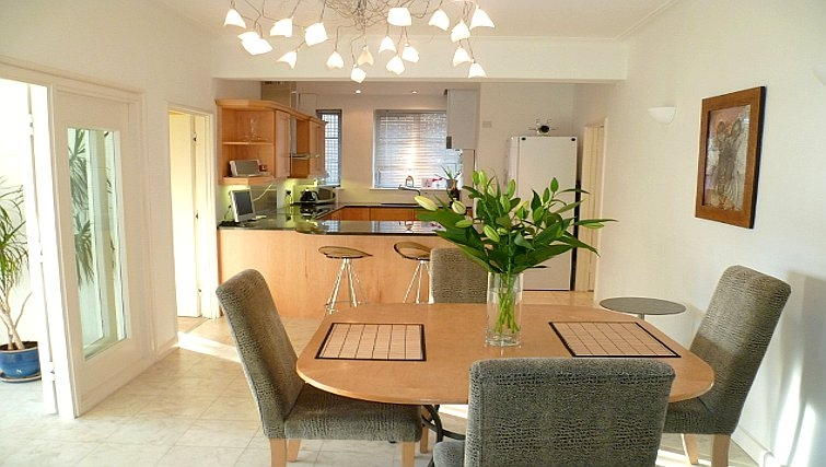 Modern dining room in Moorcourt Apartment