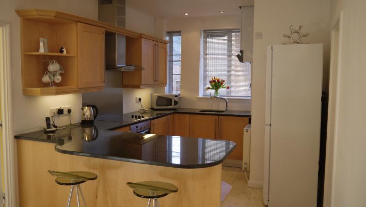 Kitchen at Moor Court Apartment