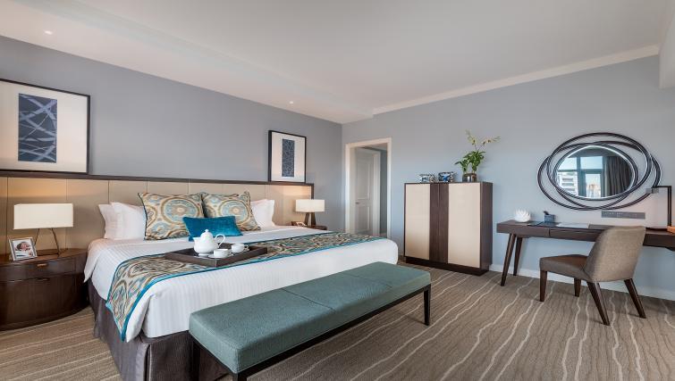 Stylish bedroom at Ascott Makati Apartments