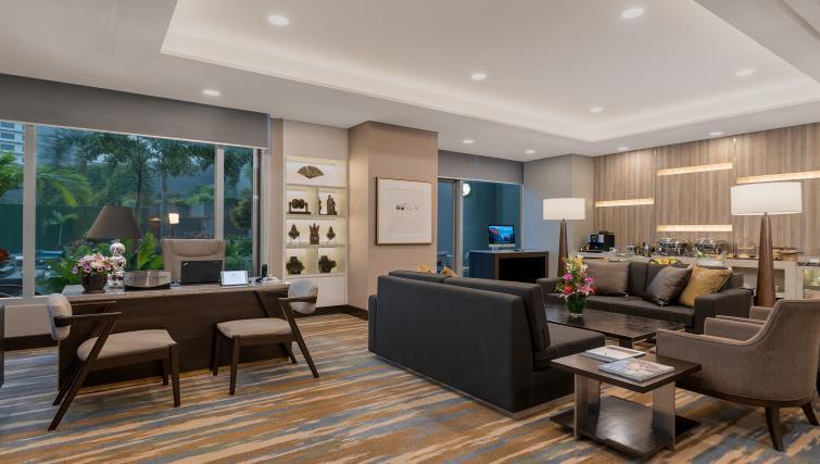 Stunning lounge area at Ascott Makati Apartments