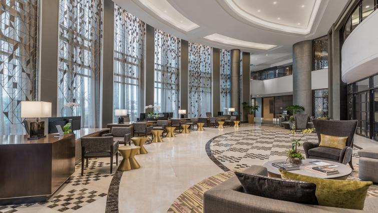 Communal lobby area at Ascott Makati Apartments