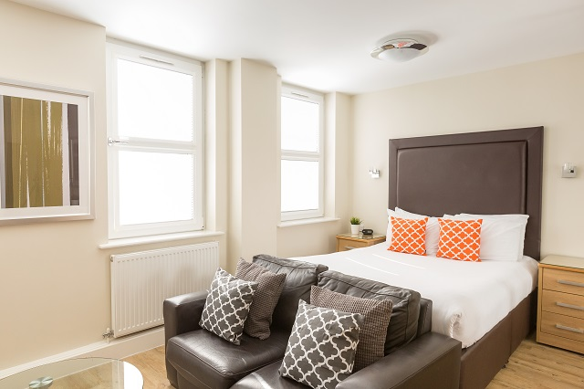 Modern bedroom at Central House
