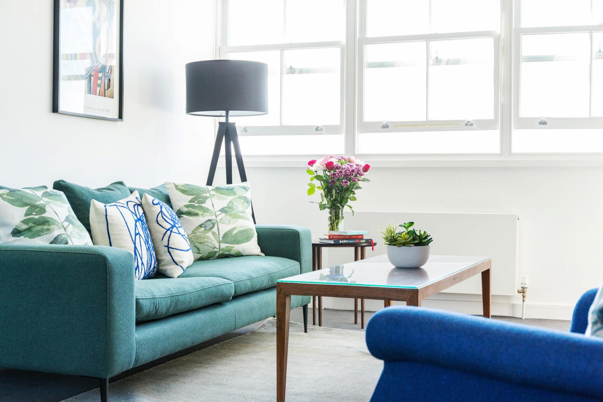 Living area at Native Hyde Park Apartments, Hyde Park, London