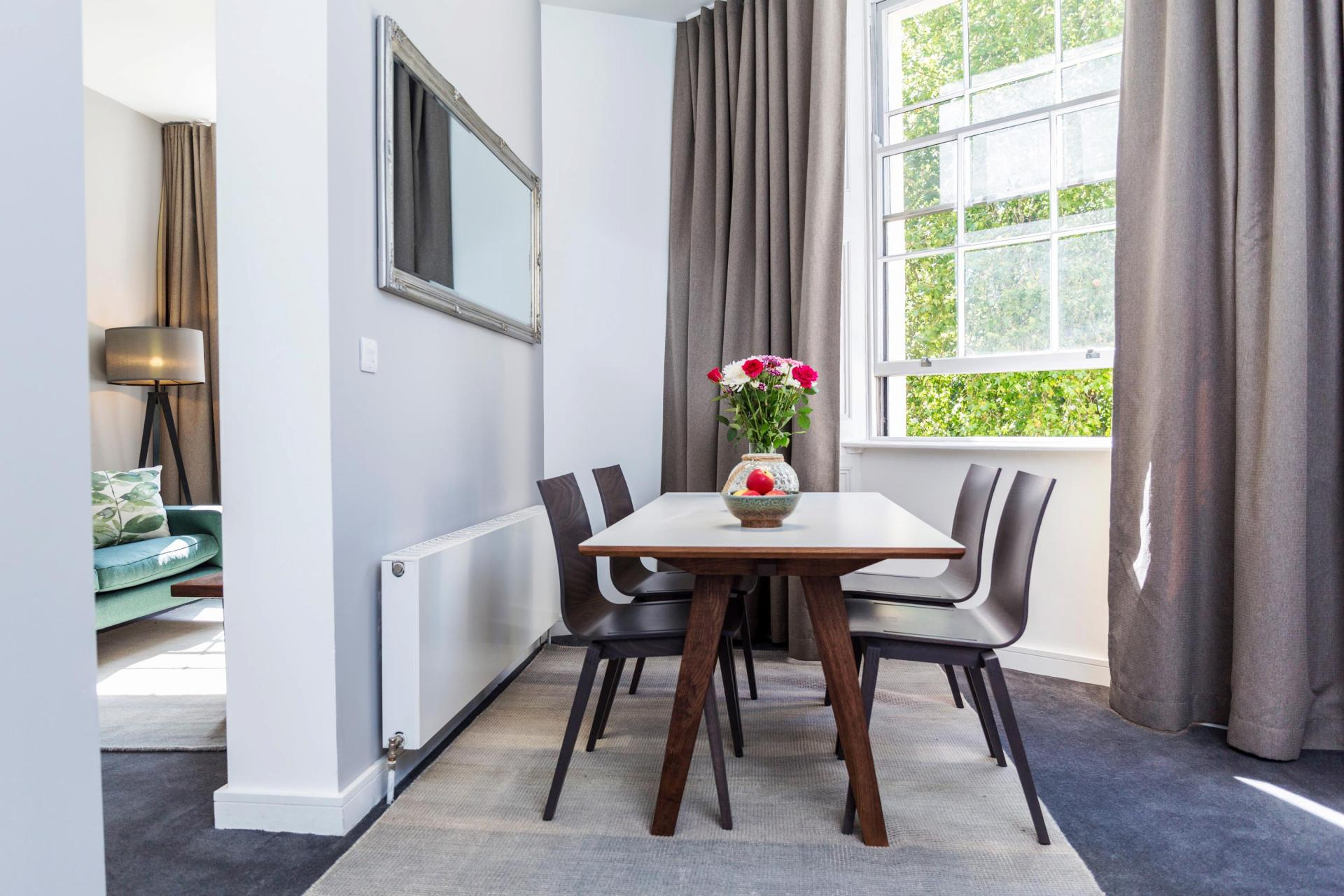 Dining area at Native Hyde Park Apartments, Hyde Park, London