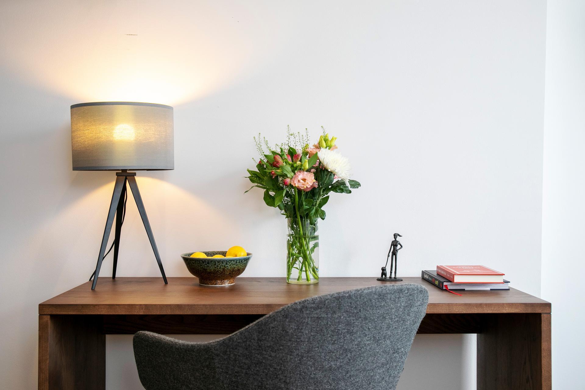 Work desk at Native Hyde Park Apartments, Hyde Park, London