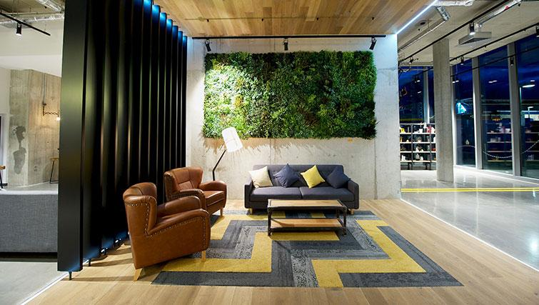 Modern reception at Staycity London Heathrow