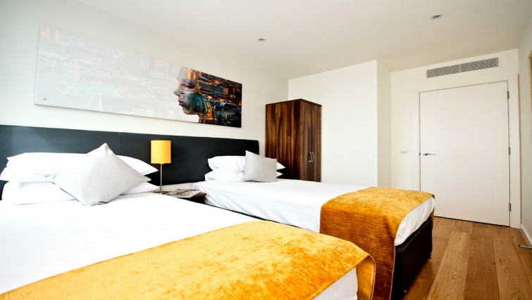 Modest bedroom in Staycity London Heathrow