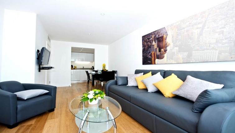 Spacious living area in Staycity London Heathrow