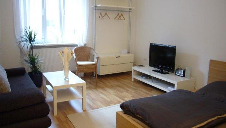Inviting living area in Nuremberg Apartments