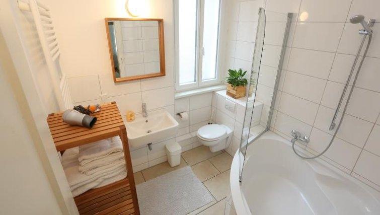 Pristine bathroom in Nuremberg Apartments