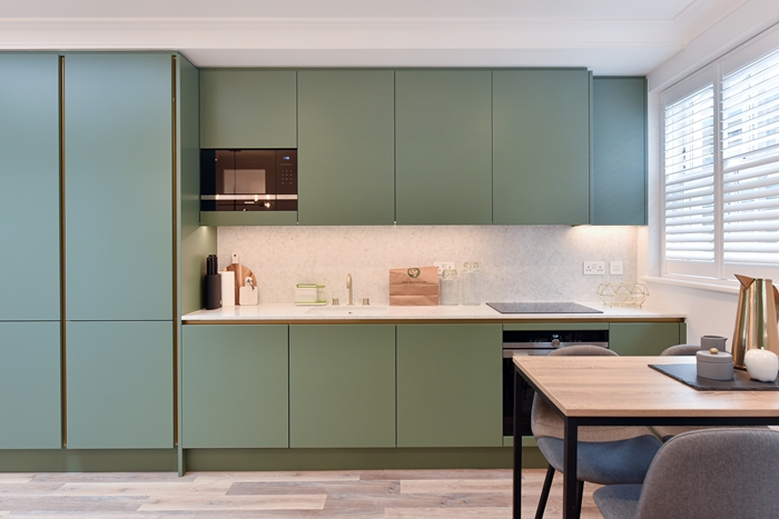Kitchen at 42 James Street Apartments, Marylebone, London