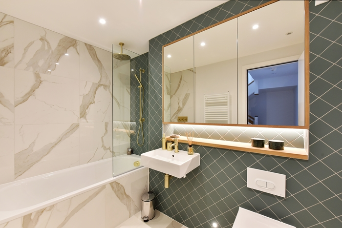 Bathroom at 42 James Street Apartments, Marylebone, London