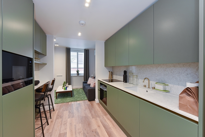 Fully equipped kitchen at 42 James Street Apartments, Marylebone, London