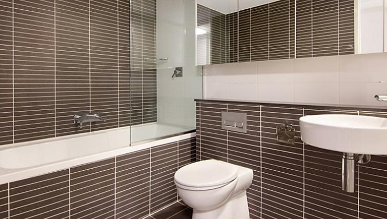 Outstanding bathroom at Astra Apartments North Sydney Miller Street