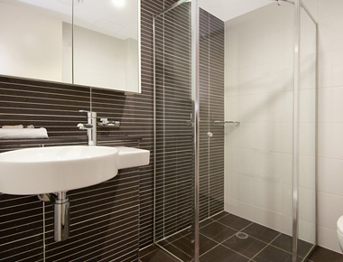 Amazing bathroom at Astra Apartments North Sydney Miller Street
