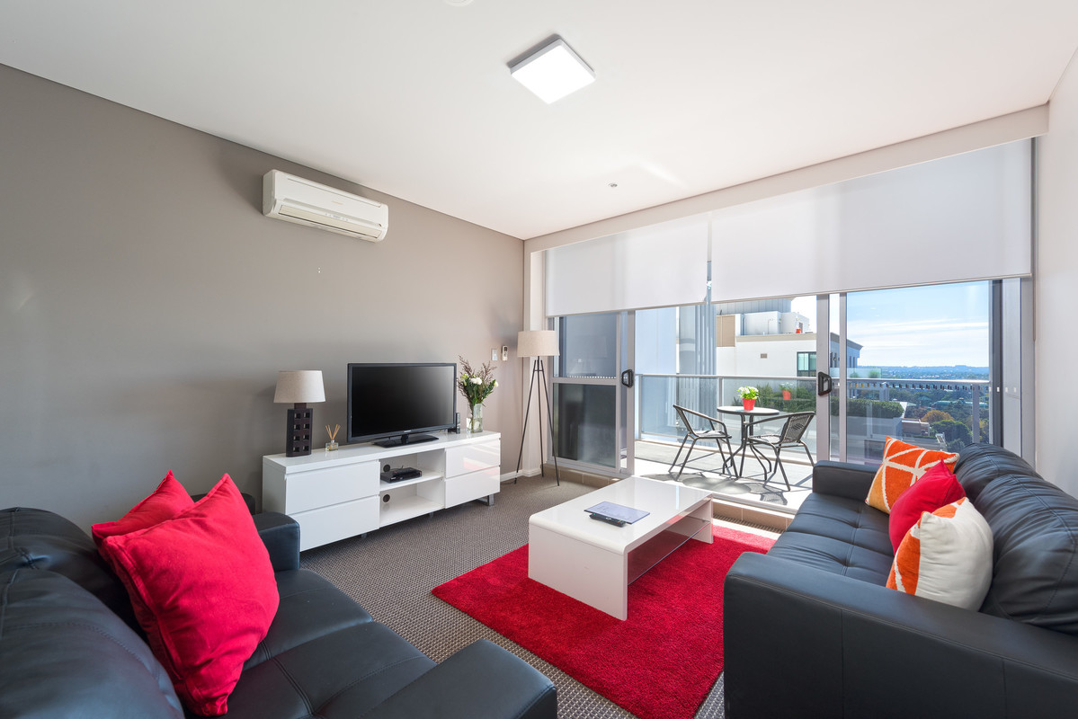 Spacious living area at Astra Apartments North Sydney Miller Street