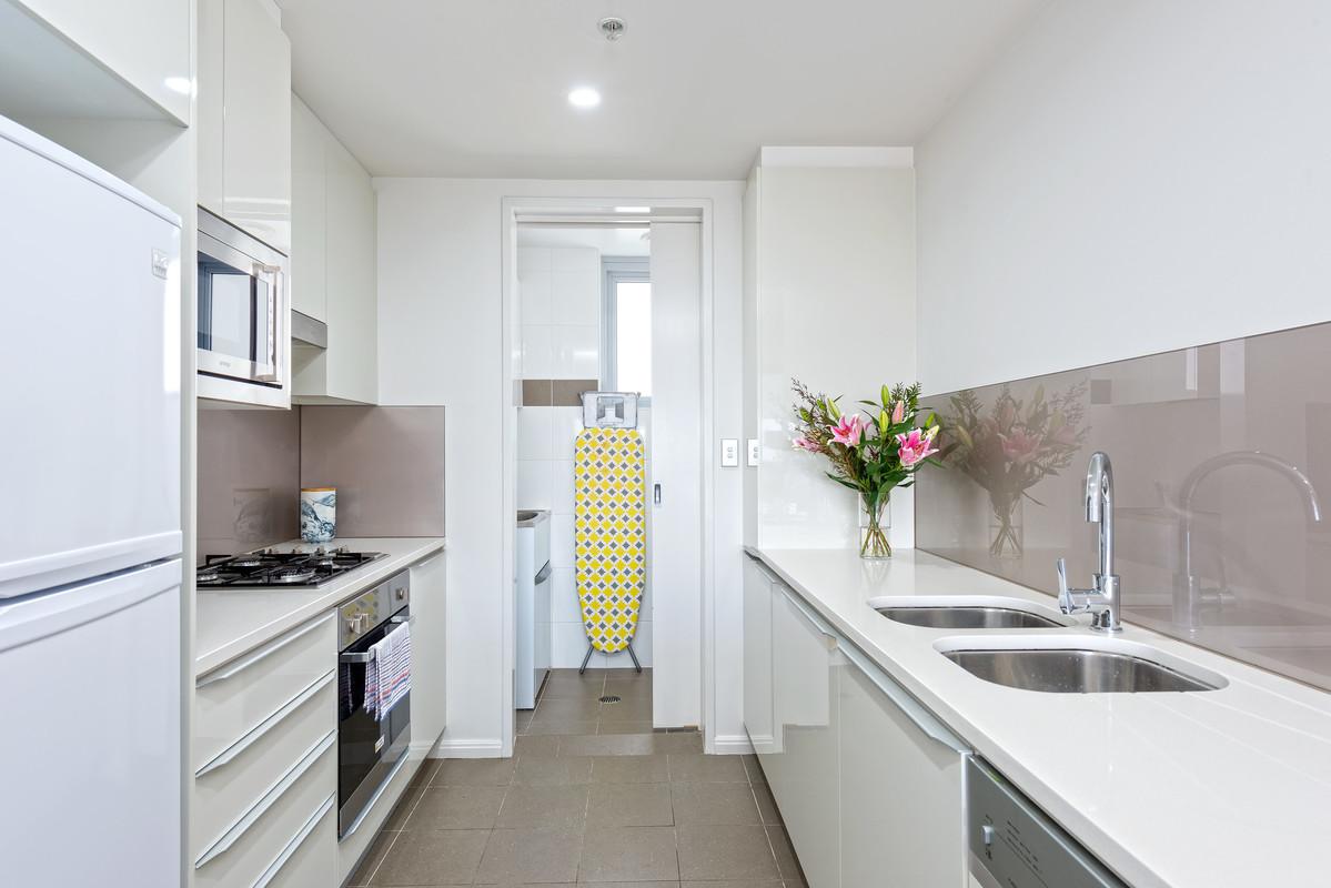 Modern kitchen at Astra Apartments North Sydney Miller Street