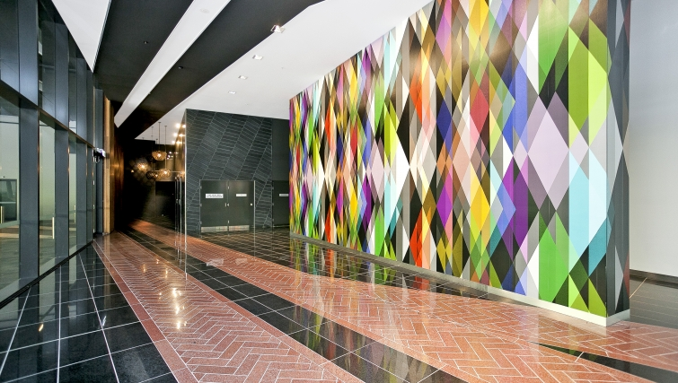 Memorable lobby area at Astra Apartments Canberra Manhattan