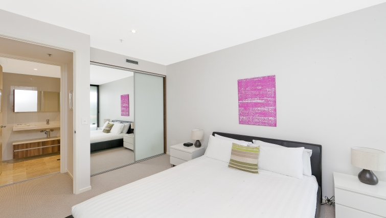 Spacious bedroom at Astra Apartments Canberra Manhattan