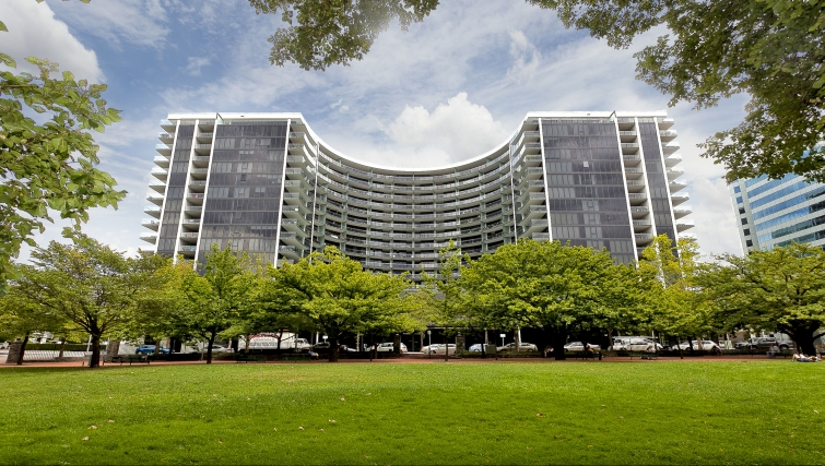 Stately exterior of Astra Apartments Canberra Manhattan