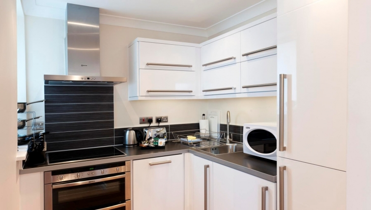 Charismatic kitchen in Byron House Apartments