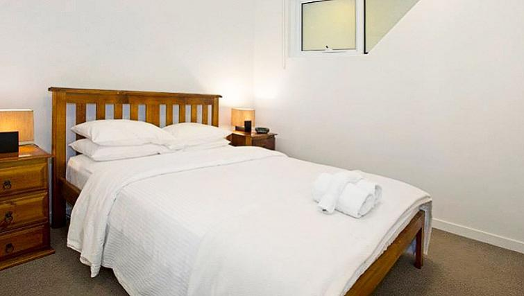 Classy bedroom in Astra Apartments Docklands Melbourne