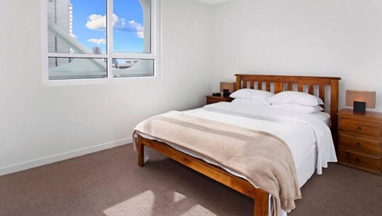 Large bedroom in Astra Apartments Docklands Melbourne
