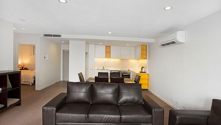 Scenic living area in Astra Apartments Docklands Melbourne