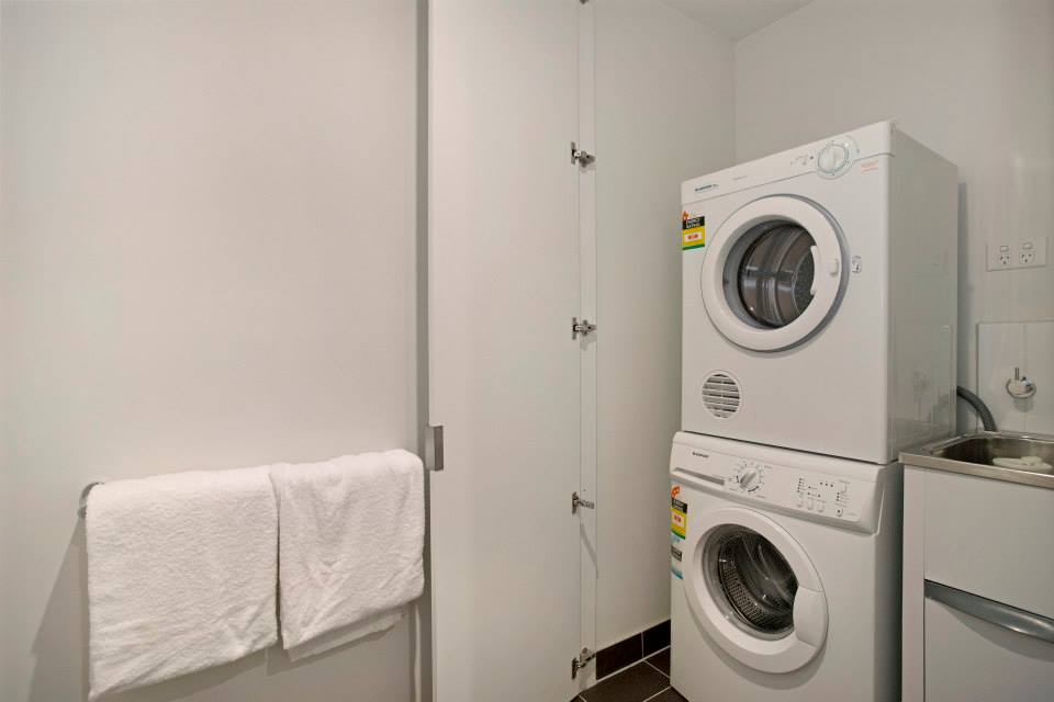 Laundry facilities at Astra Apartments Docklands Melbourne