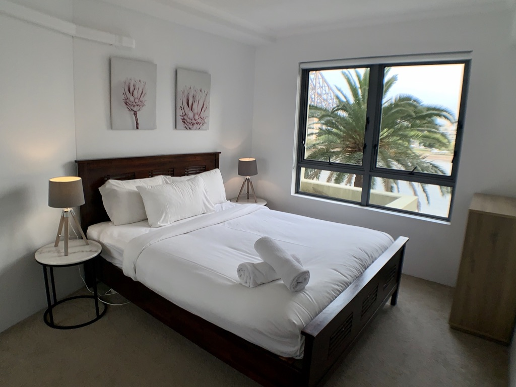 Main bed at Astra Brisbane CBD Apartments, Centre, Brisbane