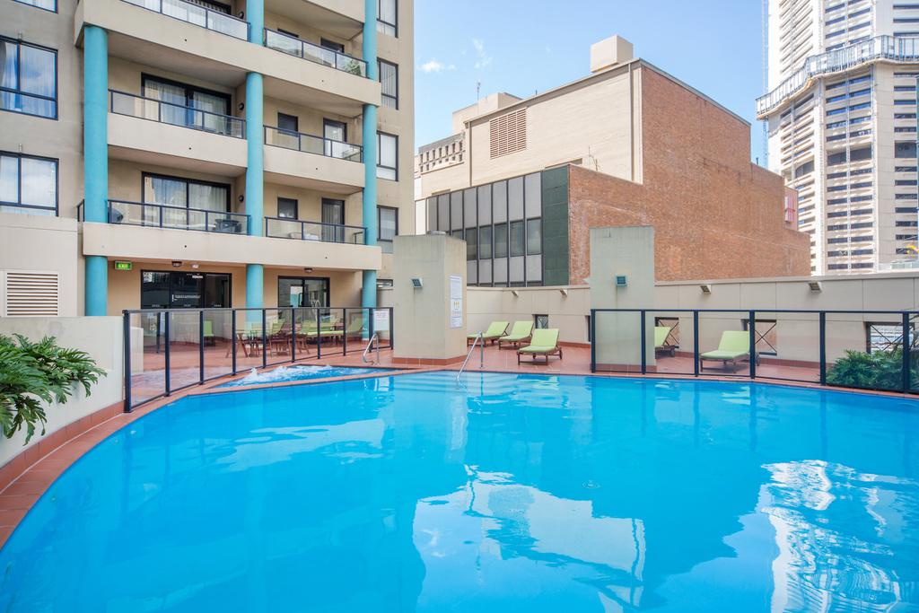 Pool area at Astra Apartments Sydney CBD Aston