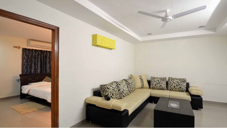 Relaxing living area in Madhapur Apartments