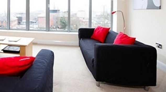 Bright living area in Mandara Point Apartments