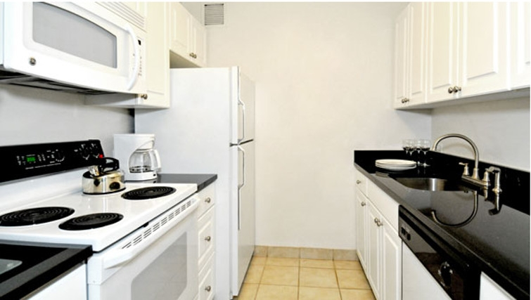 Pristine kitchen in Towers at Longfellow Apartments