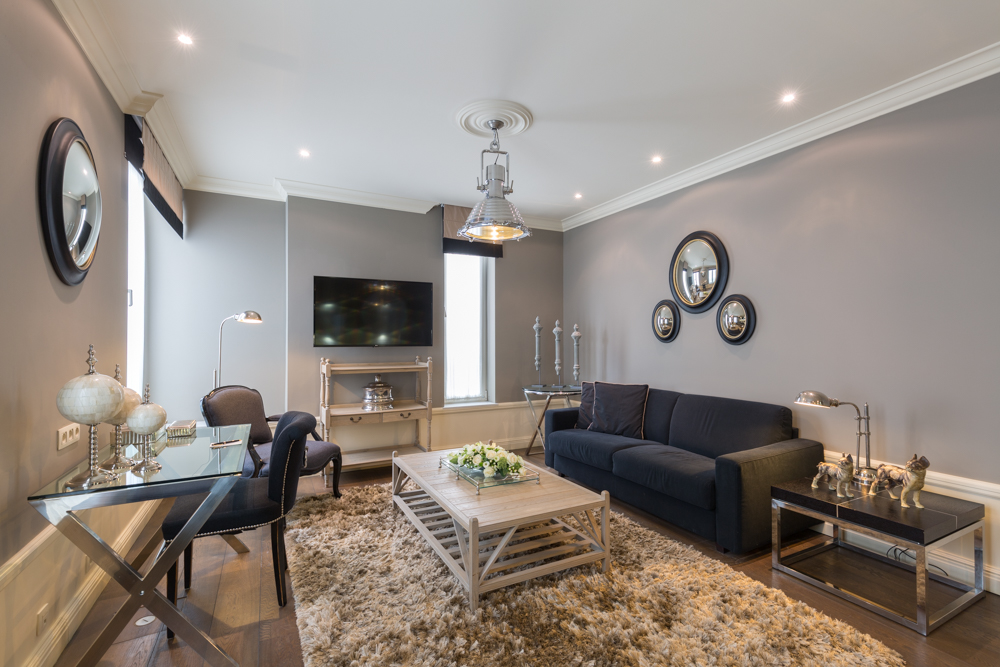 Spacious living area at Stanhope Residence Apartments