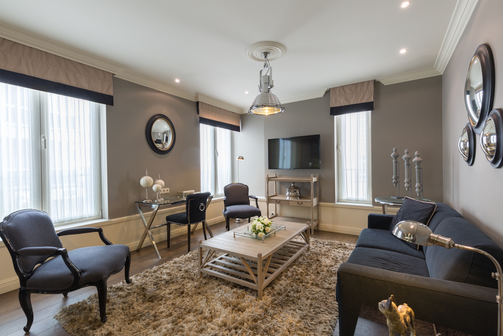 Living area at Stanhope Residence Apartments