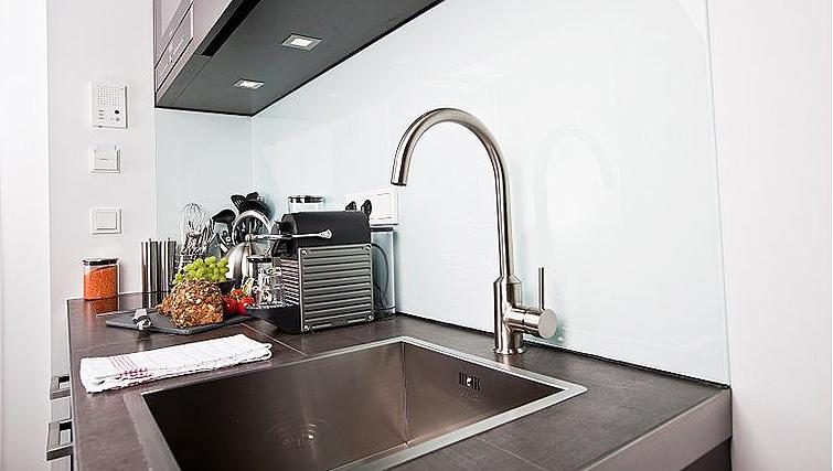 Kitchen at Goodmans Living Apartments