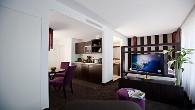 Classy living area in Goodmans Living Apartments