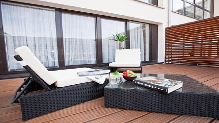 Private balcony in Goodmans Living Apartments