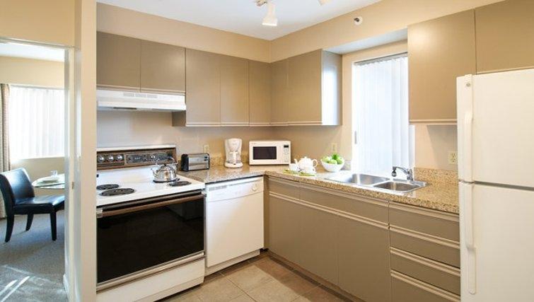 Ideal kitchen in Rosellen Suites at Stanley Park