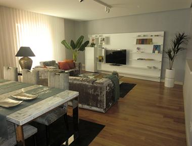 Living space at Barrio Salamanca Apartment
