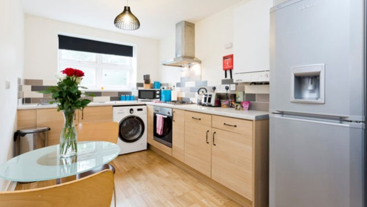 Attractive kitchen in Hayes Apartments