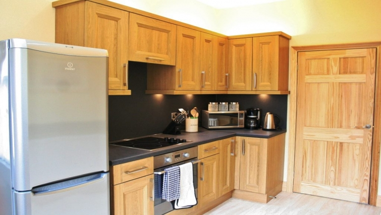 Bright kitchen in Holly House Apartments